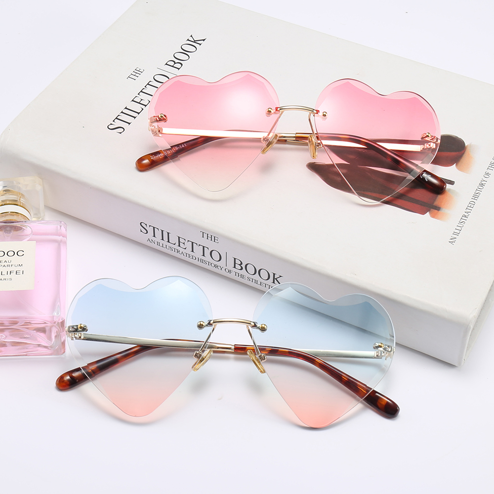 Love cut edge sunglasses 2018 new frameless fashion glasses for men and women street shooting