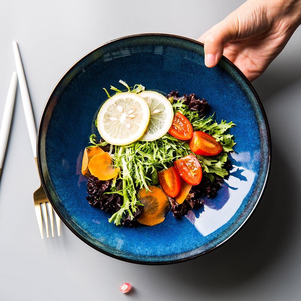 Western Salad Dishes: Aliexpress.com : Buy EECAMAIL European Kiln Blue