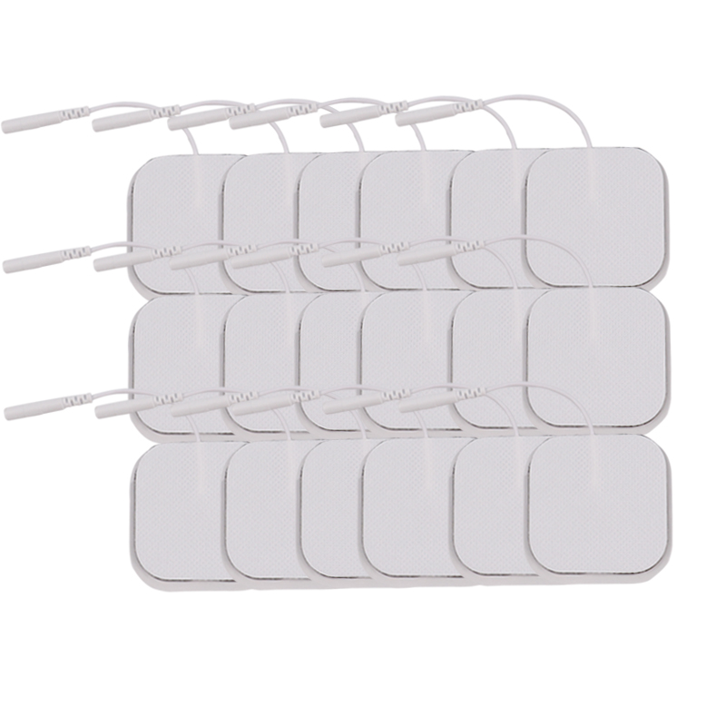 Image 3 - 100 Pcs 5x5cm 2mm Plug Reusable electrodes Tens Electrode Pads For Nerve Muscle Stimulator Digital Physiotherapy Massager-in Massage & Relaxation from Beauty & Health
