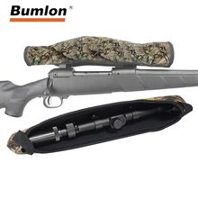 Bumlon new Hunting 13 Neoprene Scope Cover Riflescope Reversible Camouflage Camo Black Protective Cases for Rifle Airsoft