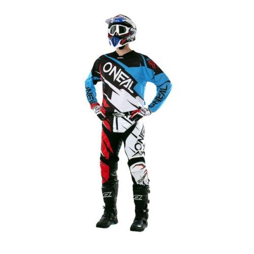 цена на Free shipping 2017 O'Neal Mint Blue/Red/Black Mens Hardwear Flow Jag Dirt Bike Jersey & Pants Kit