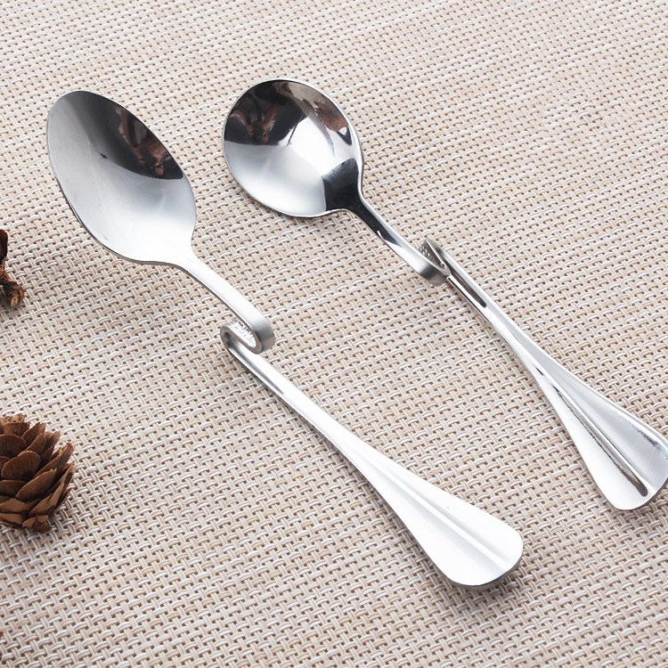 5 Pcs Coffee Spoons, Stainless Steel Bending Hanging