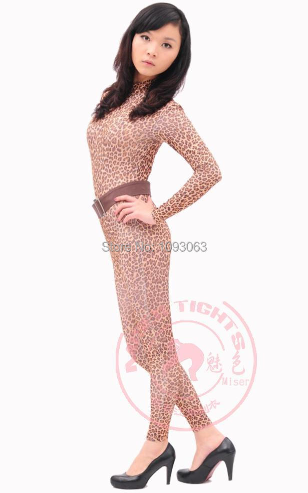 fd9a799a323c6 One Piece Sexy Wild Leopard Body Suit Siamese Tights Entertainment Bodysuit  Full Women Lady Comfort Fitted