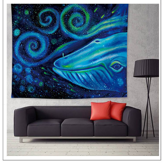 Whale Print Wall Tapestry 5