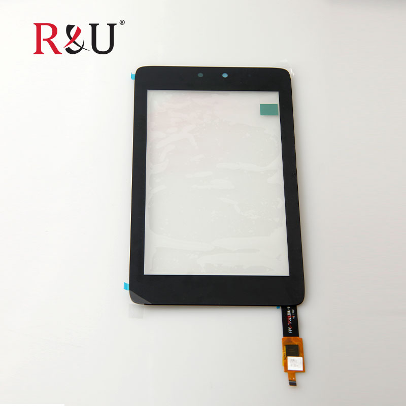 все цены на  R&U new high quality 7inch front Touch Screen Panel Sensor outer Glass Digitizer Replacement parts for HP Slate 7 HD 3400 black  онлайн