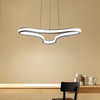 NEO Gleam Double Glow Modern Led Pendant Chandelier For Living Room Bedroom Dining Kitchen Room Home
