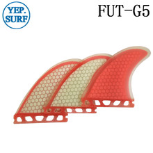 M Size Quilhas Future Fin G5 Light red Honeycomb Fibreglass Fins Surfing  3 pieces per set Surfboards