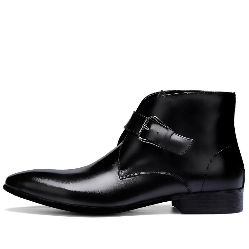 sapatos masculinos quentes couro de negócios chelsea
