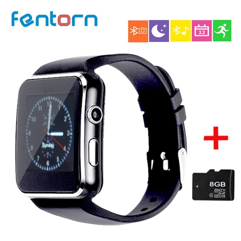 FENTORN orologi intelligenti X6 dispositivi indossabili passometer watch phone dispositivi indossabili celular Supporto SIM TF Card Della Macchina Fotografica pk Q18 DZ09