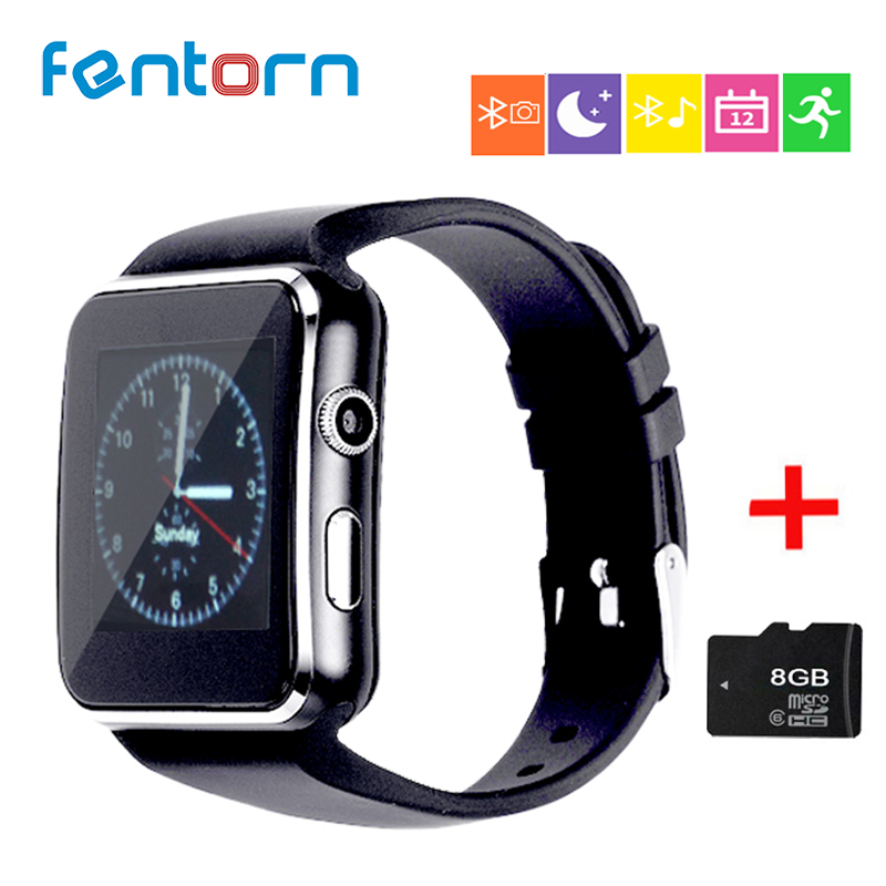 FENTORN smart uhren X6 tragbare geräte passometer uhr telefon tragbare geräte celular Unterstützung SIM Tf-karte Kamera pk Q18 DZ09