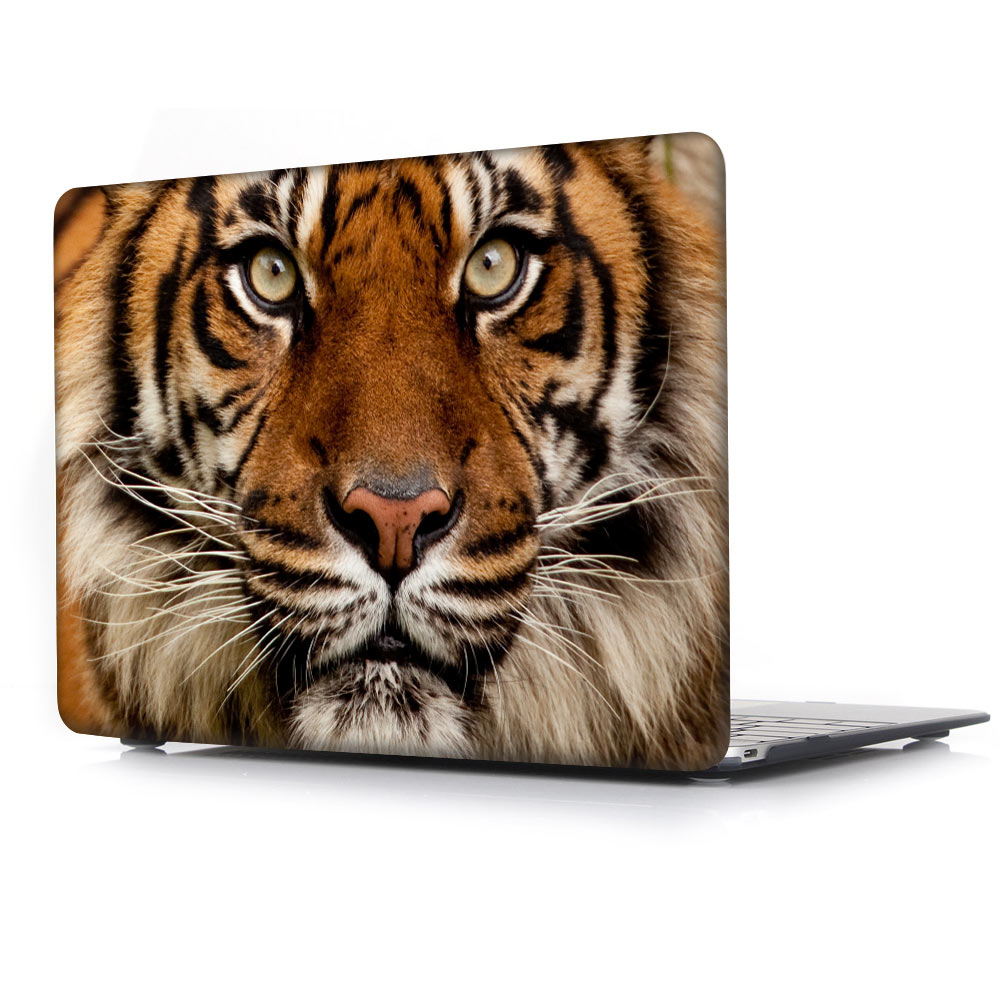 Dog Cat Pets Floral Macbook Pro 13 15 Air 13 2018 Top Bottom Printed Cover Case