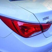 2 Pieces Rear L R DRL Rear Trunk Signal Brake Reverse LED Taillights For Hyundai Sonata