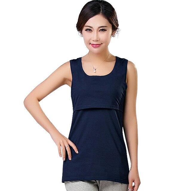 9ab7fcd693d 2016 Summer Cotton Nursing Tank Maternity Breastfeeding Tops Clothes  Pregnant Women Fashion Mothers Feeding T-shirt Plus Size