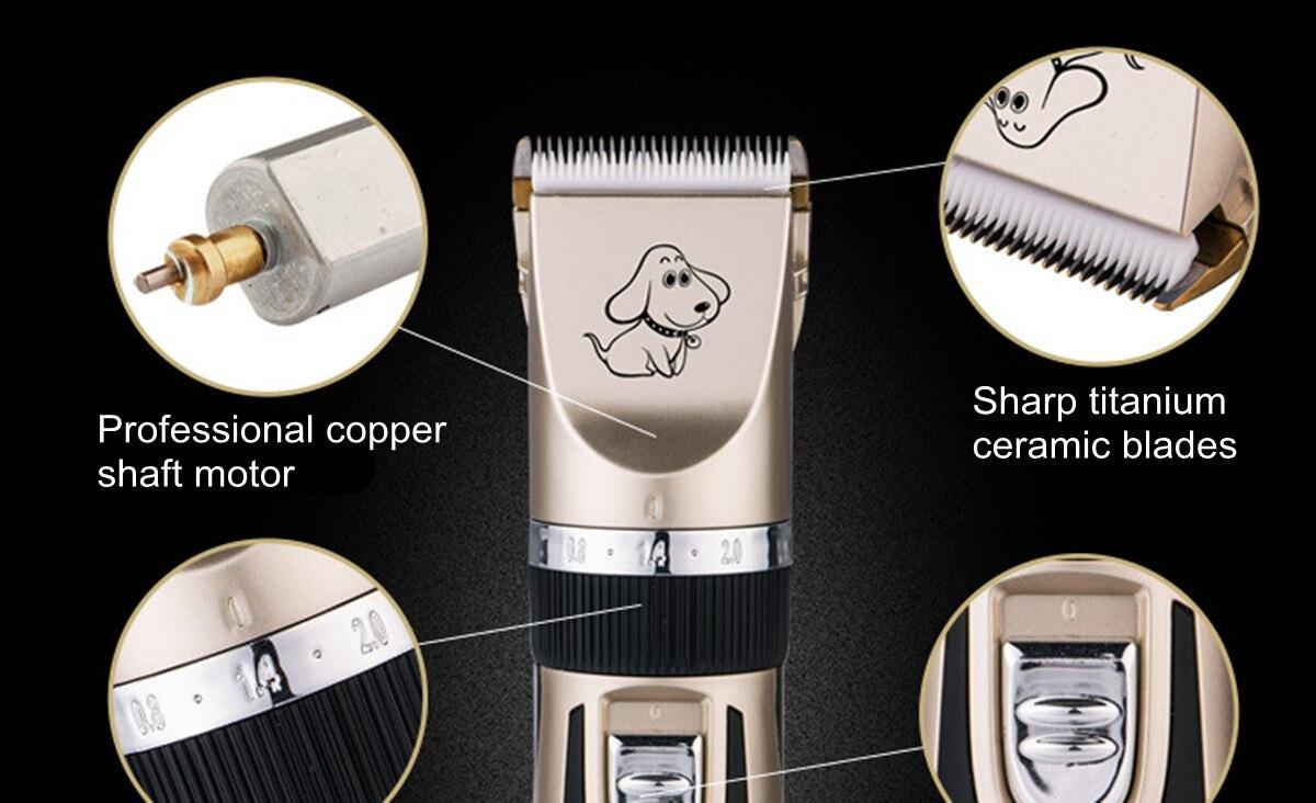 Rechargeable Baorun Electrical Pet Hair Trimmer 17 » Pets Impress