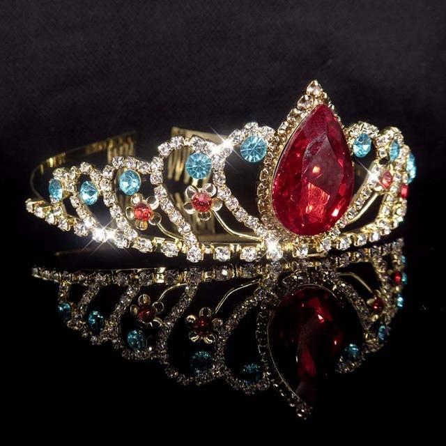 Gold Color Princess Crystal...