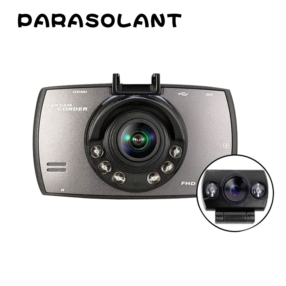 PARASOLANT 140 Wide-angle Car recorder Full HD 1080P Dash Cam Loop Recorder Car DVR 6 fill lights Clear Night Vision Car Camera bigbigroad for nissan qashqai car wifi dvr driving video recorder novatek 96655 car black box g sensor dash cam night vision