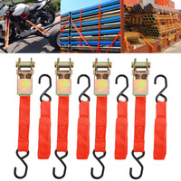 Ratchet Tie Down Cargo Straps Lashing Package Webbing Hold Secure Ratchet Belt Straps Moving Hauling Truck