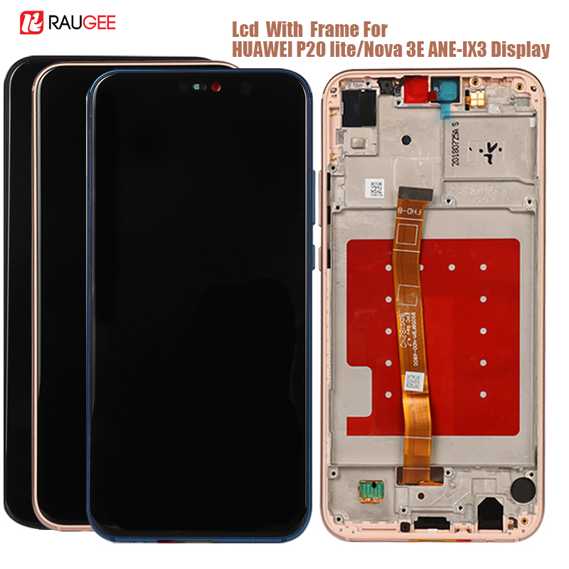 Display For Huawei P20 Lite ANE-LX3,LX1 Lcd Display Touch Screen Replacement For Huawei Nova 3E/P 20 Lite Tested Lcds With Frame
