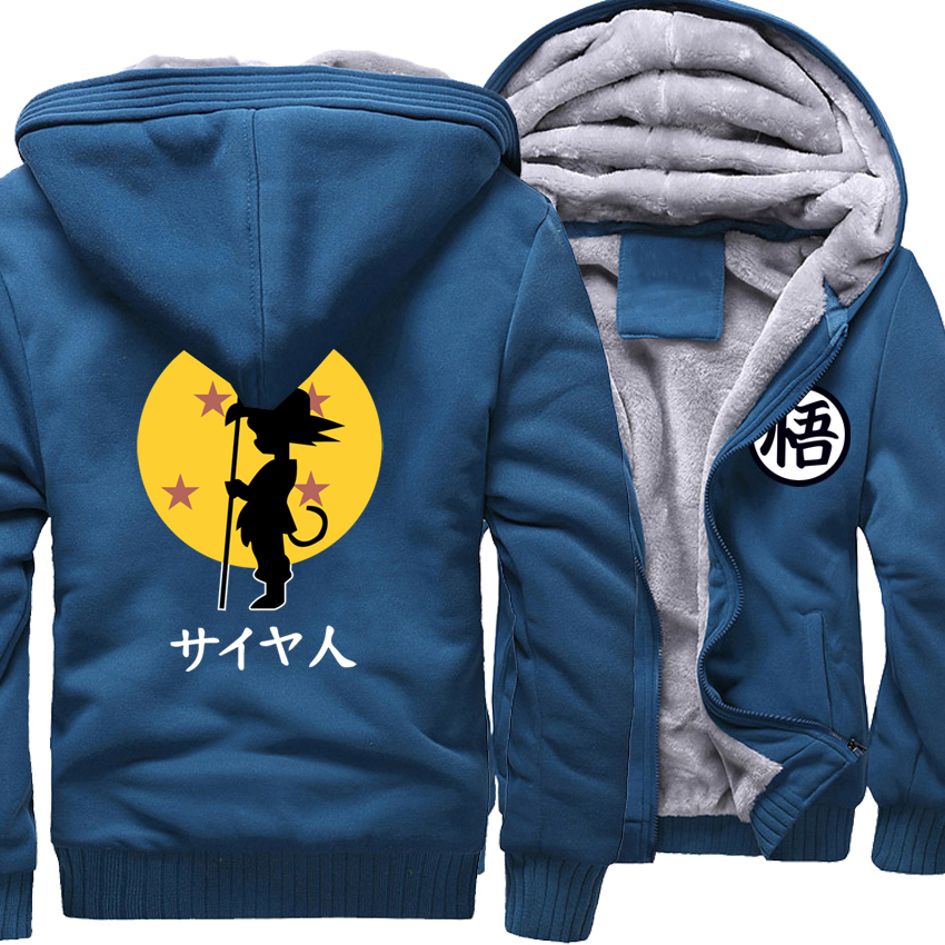 Anime Cartoon Print Dragon Ball Z Tops Streetwear Harajuku 2018 New Arrival Brand Clothing Thick Hoodies Men Sweatshirt Hoody