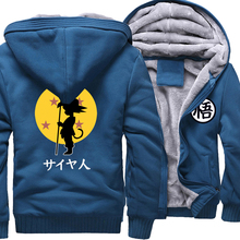 Anime Cartoon Print Dragon Ball Z Tops Streetwear Harajuku 2018 Nieuwe Collectie Merk Kleding Dikke Hoodies Mannen Sweater Hoody