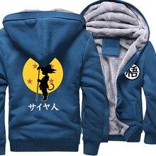 Camiseta con estampado de Dragon Ball Z para hombre, ropa de calle Harajuku, ropa de marca, sudaderas gruesas, Sudadera con capucha, novedad de 2018