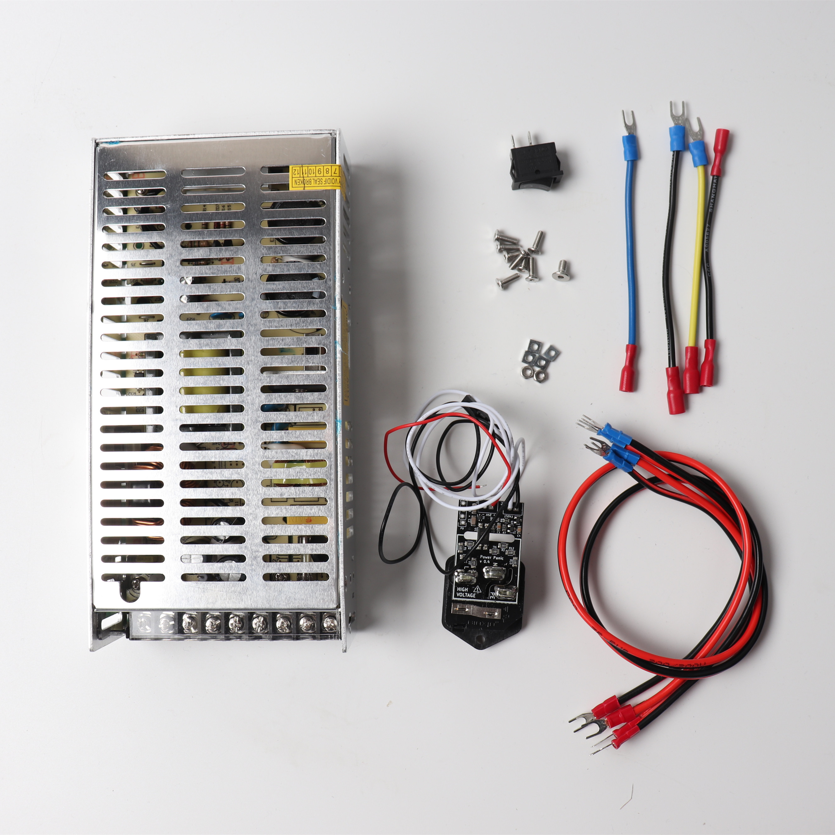 Blurolls Prusa i3 MK3 PSU power supply 24V 24W power panic wiring harness and switch