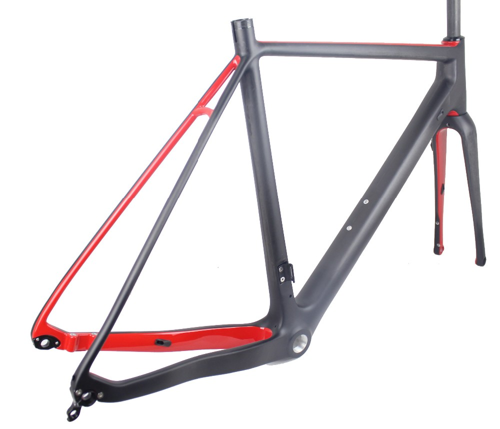 MIRACLE Flat mount 700*40c Bicicleta Gravel di2 Disc Carbon cyclocross frame 49/52/54/56/58cm Carbon bike frame hot sale chinese cyclocross frame carbon cx frame di2 disc brake carbon cyclocross bike frame cx535