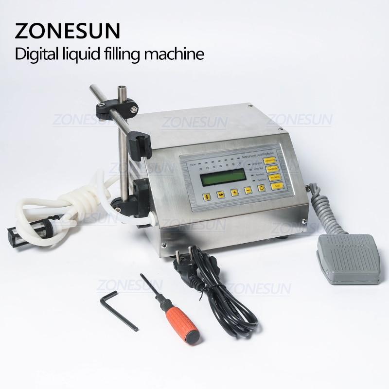 ZONESUN 5-3500ml Digital de Control de agua de beber Alcohol de leche de jugo de llenador de botellas pequeñas de GFK 160 máquina de llenado de líquidos - 4