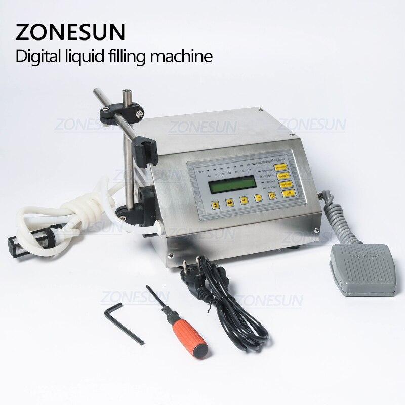 ZONESUN 5-3500ml Machine de remplissage liquide de boisson molle d'eau contrôle numérique GFK160 eau huile parfum lait petite bouteille de remplissage - 4