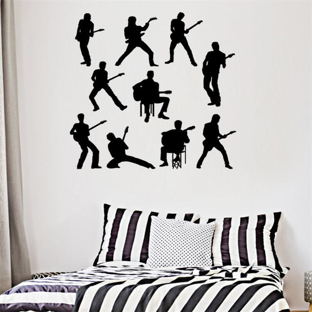 Idfiaf classic band wall sticker used for music lovers room decor home diy