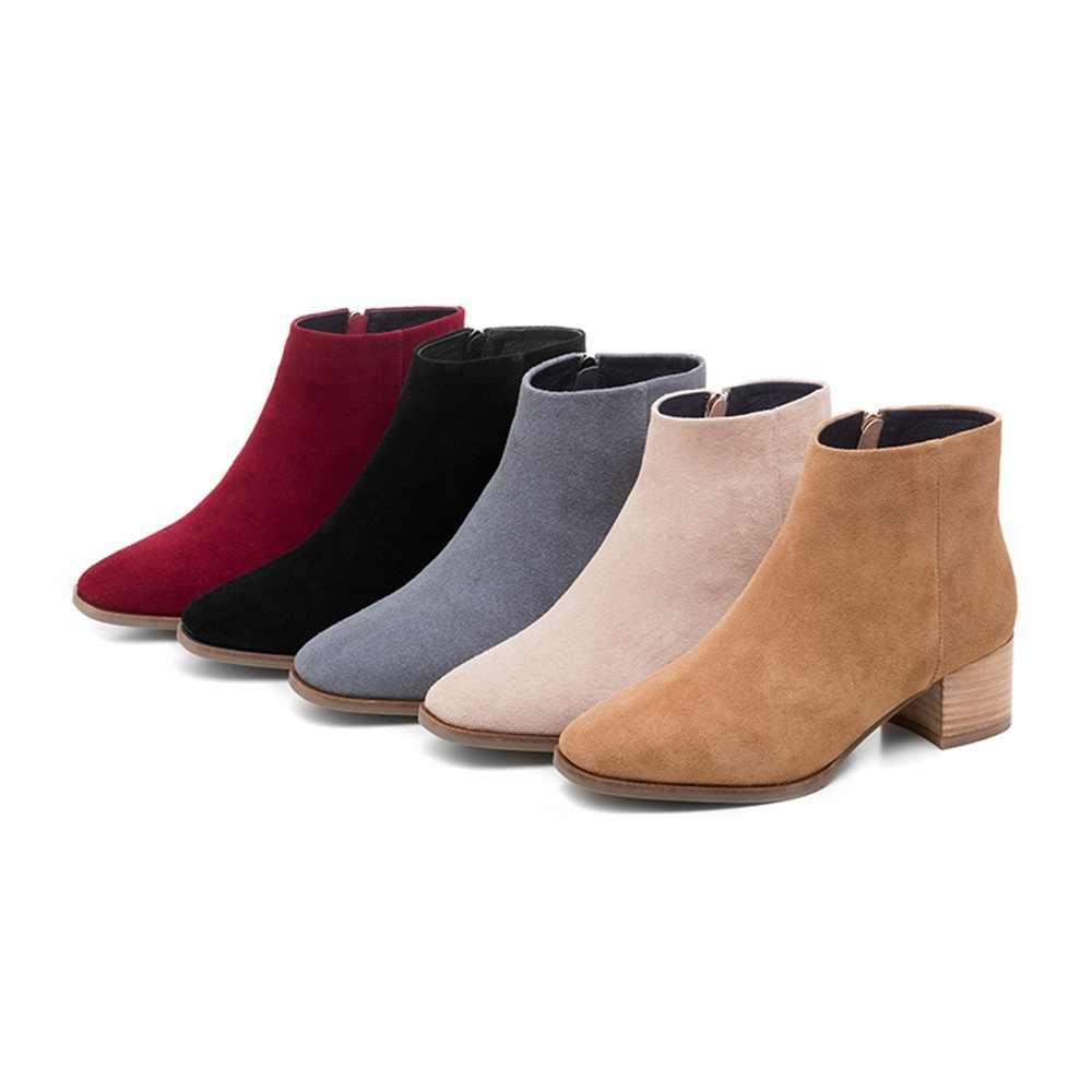 MORAZORA 2020 nowy wysokiej jakości skóra bydlęca kobiet buty kwadratowy obcas jesień zima botki dla kobiet moda damska buty