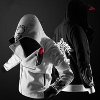 Assassins Creed Косплей Молния Балахон Флис Бархат Пальто Куртки Одежда
