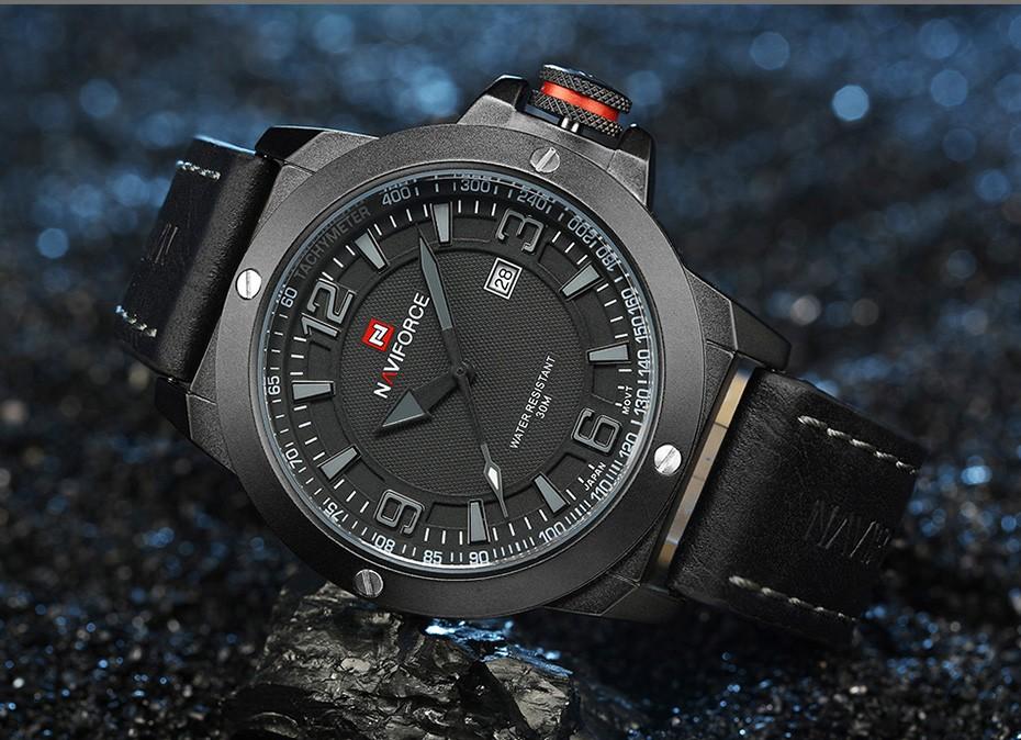 2017 Nouveau Luxe Marque Naviforce Hommes Classique Militaire Montres Hommes de Quartz Date Horloge Homme Poignet Montre de Sport Relogio Masculino 11