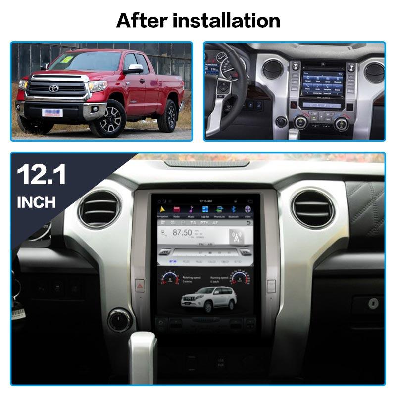 Car Stereo Radio Frame  Fascia Panel Trim Kit For Toyota Tundra 2014+