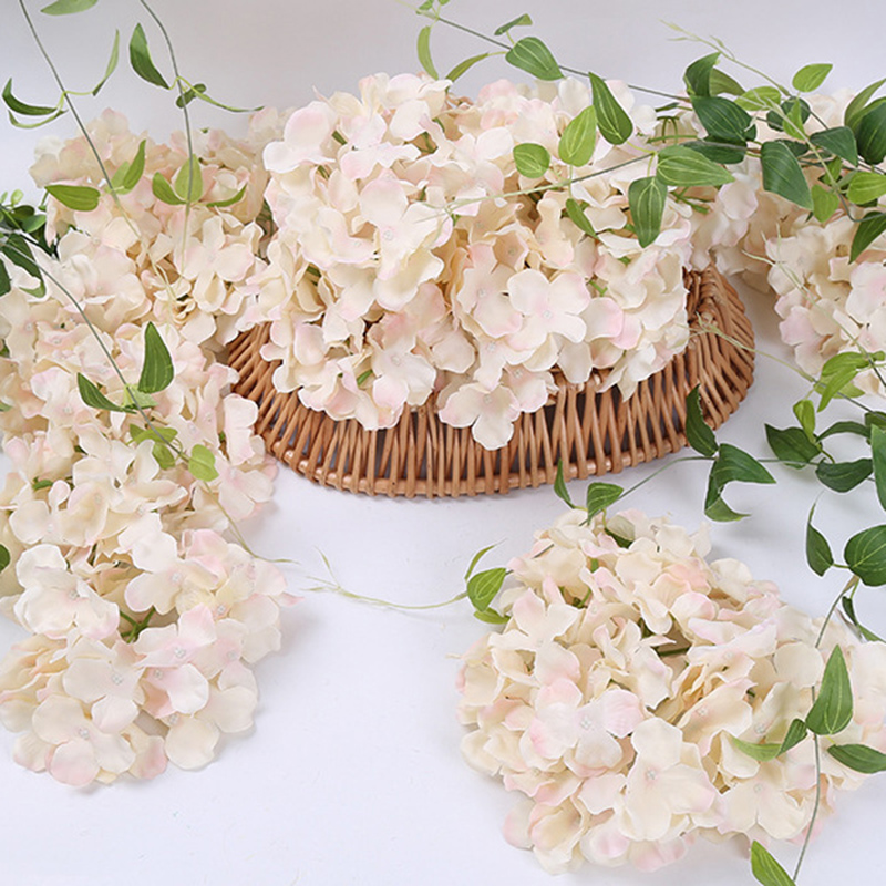 Image 4 - 10pcs/lot Colorful Decorative Flower Head Artificial Silk Hydrangea DIY Home Party Wedding Arch Background Wall Decorative Flowe-in Artificial & Dried Flowers from Home & Garden