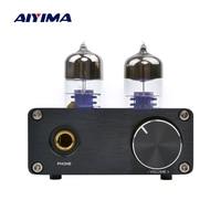 AIYIMA Headphone Amplifier HiFi 6J9 Vacuum Tube Amplifier Stereo Preamplifier PCM2706 USB DAC Decoder Tube Preamp Tone Control