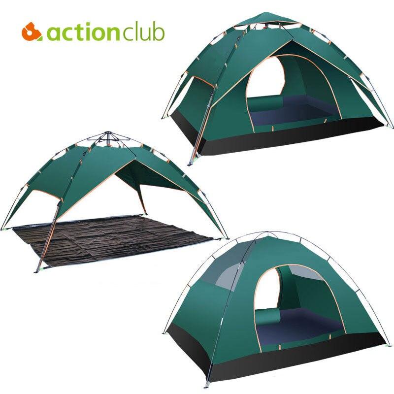Actionclub Pop Up Automatic Open Tent Windproof Waterproof Four Season Tent Ultralight Folding UV Protective Fishing Shelter  buck open season folding skinner b0546bks