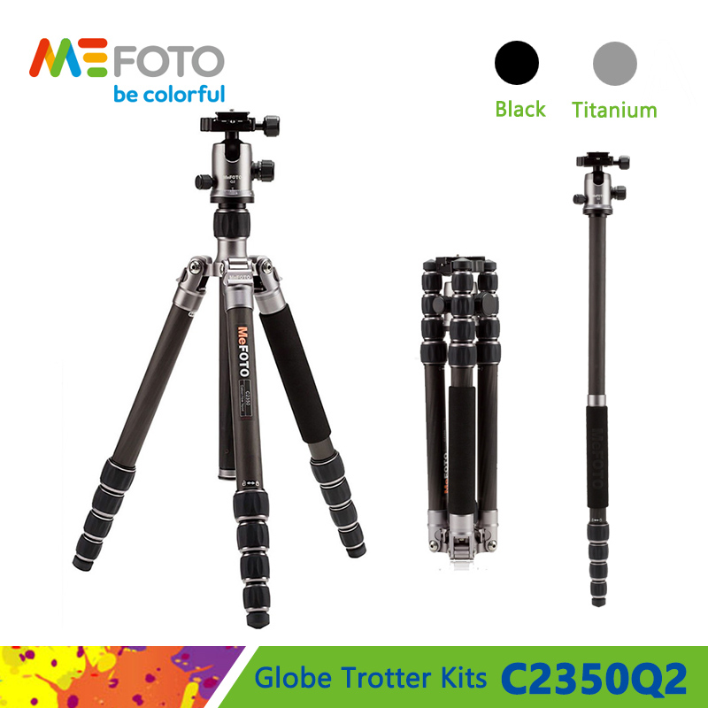 MeFOTO C2350Q2 Tripod Carbon Fiber Tripods Camera Monopod Q2 Ball Head 5 Section Carry Bag Max Loading 12kg DHL Free Shipping