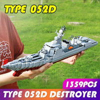 1359pcs Xingbao Military Army the Missile Destroyer Battle War Ship Building Blocks Bricks Weapons Warship Children Toys