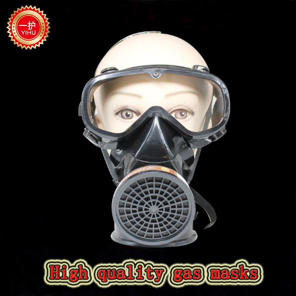 high quality respirator gas mask Siamese Wind and dust protective mask against Painting pesticide full face respirators protective outdoor war game military skull half face shield mask black