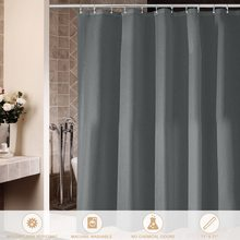 72 * 72cm Polyester Waterproof Shower Curtain Decorative Privacy Protection Bathroom Shower Curtain with 12pcs Hooks
