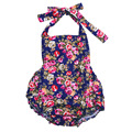 100% Cotton Baby Girl Romper Suit Floral Print Ruffle One-Piece Infant Rompers Newborn to 2T Infant Clothing