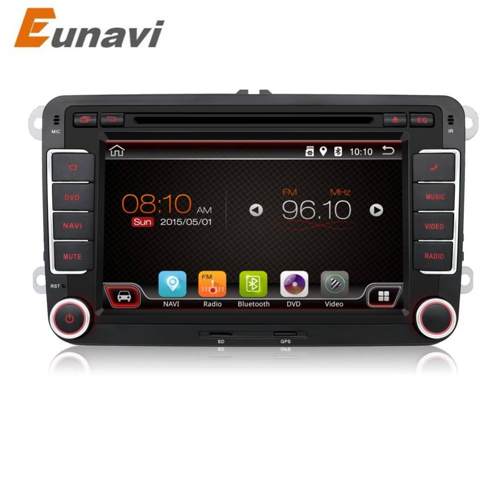 2 din android 6 0 vw car audio dvd player gps for golf 6 polo bora jetta b6 passat tiguan skoda. Black Bedroom Furniture Sets. Home Design Ideas