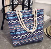 Wayuu Style Mochila Mujer Tote Bag Larger Capacity Shopping Shoulder Fashion Canvas Color Embroidery Handbag for Women 2019