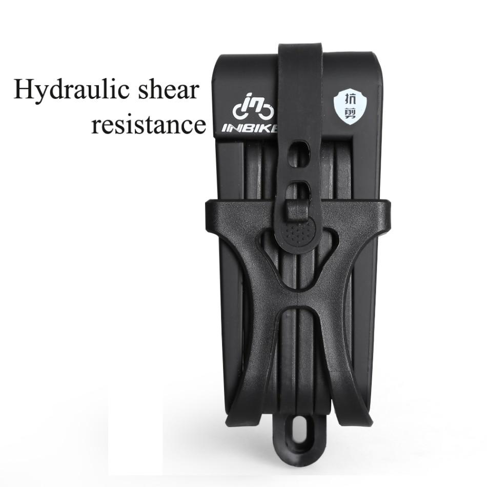 Противоугонный велосипедный замок складной велосипед из нержавеющей стали замок цепи с 3 запасными клавишами - Цвет: Black 1
