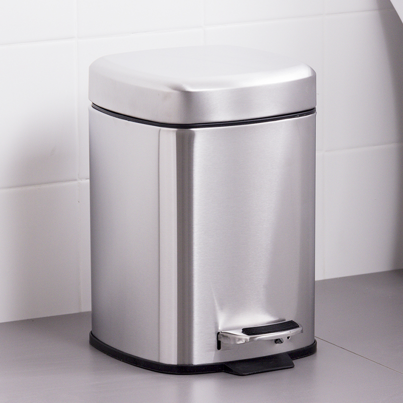 ORZ 6L Stainless Steel Foot Pedal Trash Bin Eco Friendly