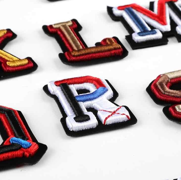 Patchs brodés en 3D avec appliques   Patch nom de l'alphabet anglais pour enfants, sacs pour vêtements tendance, accessoires bricolage logo