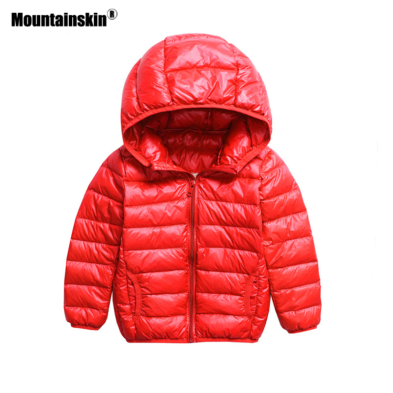 Mountainskin 2017 Winter Boys Duck Down Coats Waterproof Girls Thick Jackets Autumn Hooded Coat Light Children's Clothing SC876 перфоратор makita hr4013cv