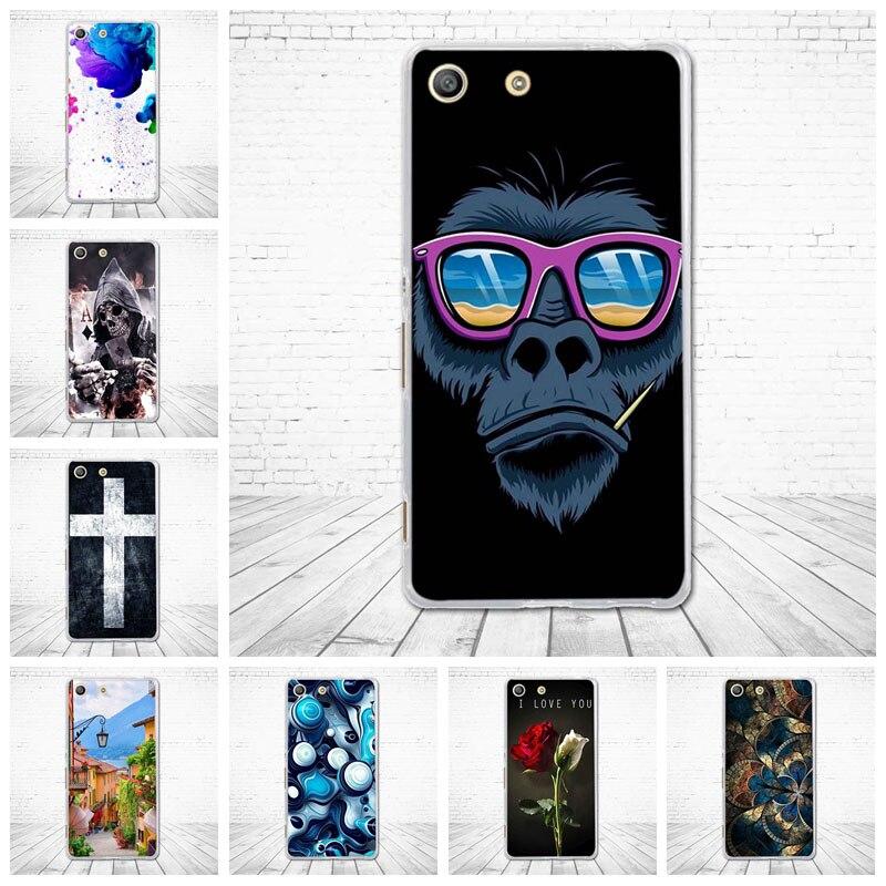 Soft TPU Case For Sony Xperia M5 E5603 E5606 E5653 Print Silicone TPU Back Cover For Sony Xperia M 5 Phone Shells Fundas Painted