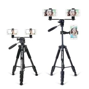 Image 5 - Zomei Live Tripod Selfie Stands Accessories phone holder clips platform for smart phone/ipad/DSLR camera/live broadcast tripod